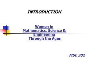 MSE 302