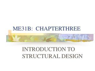 ME31B:  CHAPTERTHREE
