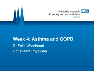Week 4: Asthma and COPD
