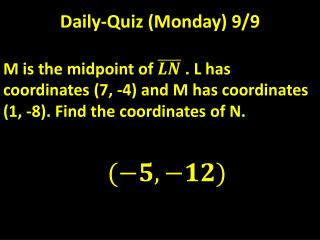 Daily-Quiz (Monday) 9/9