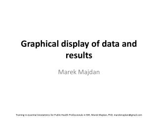 Graphical display of data and results