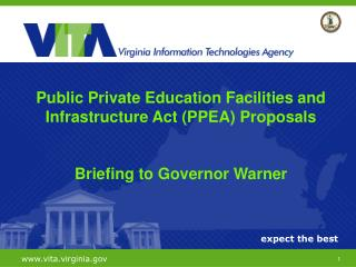Public Private Education Facilities and Infrastructure Act (PPEA) Proposals