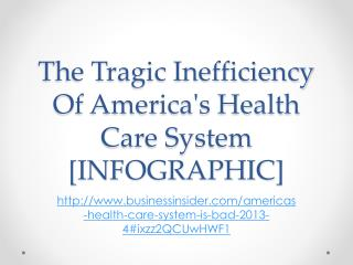 The Tragic Inefficiency Of America's Health Care System [INFOGRAPHIC ]