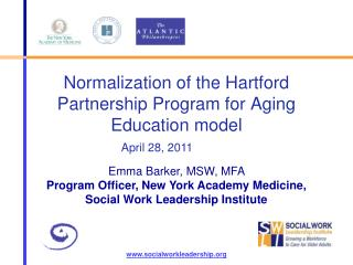 Normalization of the Hartford Partnership Program for Aging Education model