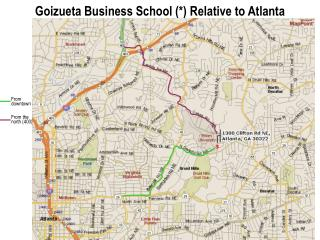 Goizueta Business School  Relative to Atlanta