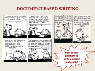 DOCUMENT BASED WRITING