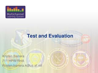 Test and Evaluation