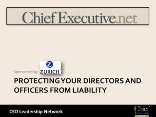 Protecting Your Directors and Officers from Liability