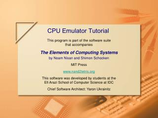 CPU Emulator Tutorial