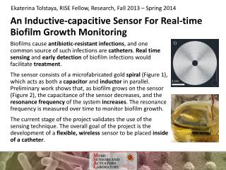 An Inductive-capacitive Sensor For  Real-time  Biofilm Growth Monitoring