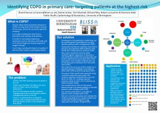 Identifying COPD in primary care:  targeting  patients at the highest  risk