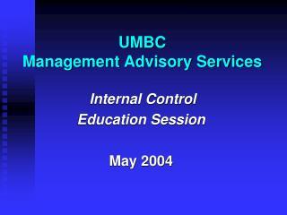 UMBC Management Advisory Services
