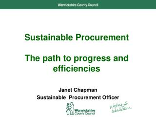 Sustainable Procurement The path to progress and efficiencies