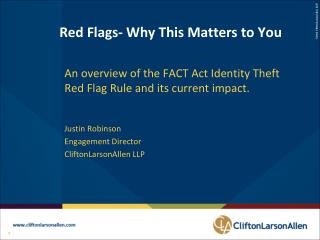 Red Flags- Why This Matters to You