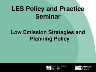 LES Policy and Practice Seminar