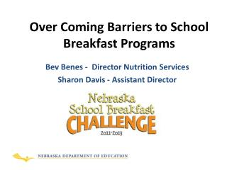 Over Coming Barriers to School Breakfast Programs
