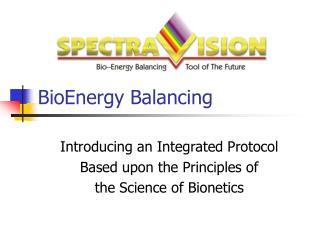 BioEnergy Balancing