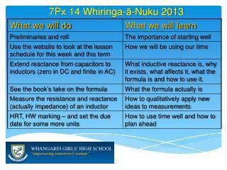 7 Px 14  Whiringa - ā- Nuku  2013