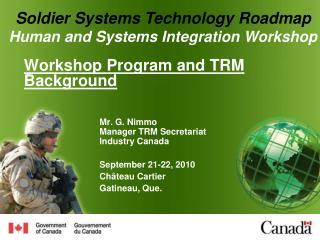 Workshop Program and TRM Background