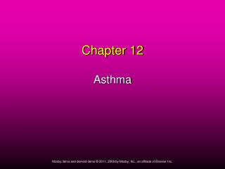 Chapter 12 Asthma