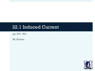 22.1 Induced Current