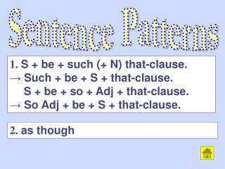Sentence Patterns