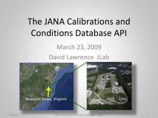 The JANA Calibrations and Conditions Database API