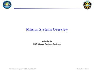 Mission Systems Overview