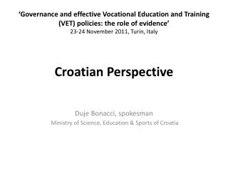 Croatian  Perspective