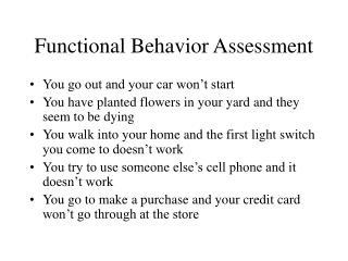 Functional Behavior Analysis Positive Behavior Support  Behavior  Intervention Plans