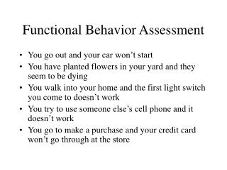 Functional Behavior Analysis Positive Behavior Support  Behavior  Intervention Plans