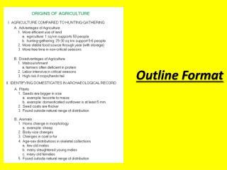 Outline Format