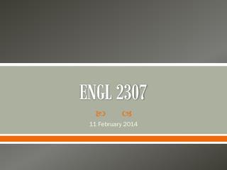ENGL 2307