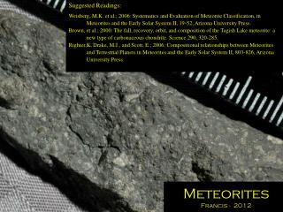 Meteorites Francis -  2012