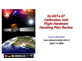 GLAST-LAT  Calibration Unit Flight Hardware Handling Plan Review