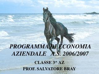 PROGRAMMA DI ECONOMIA AZIENDALE   A.S. 2006/2007