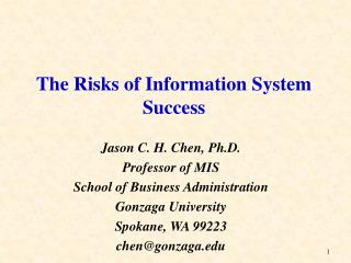 The Risks of Information System Success