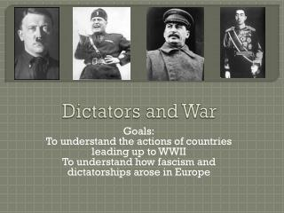 Dictators and War