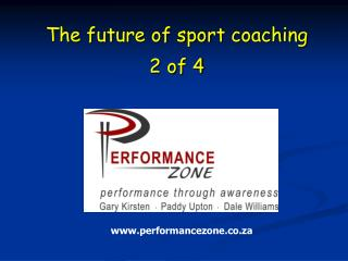 The future of sport coaching  2 of 4