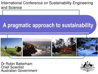 A pragmatic approach to sustainability