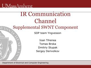IR Communication Channel Supplemental SWNT Component