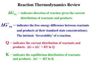 Reaction  Thermodynamics Review