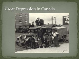 Great Depression in Canada