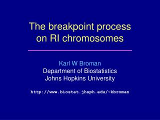 The breakpoint process on RI chromosomes