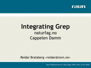 Integrating Grep naturfag.no Cappelen Damm