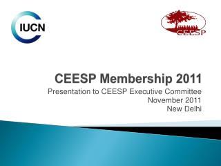 CEESP Membership 2011