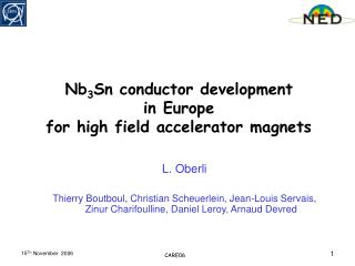 Nb 3 Sn conductor development  in Europe  for high field accelerator magnets