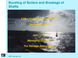 Bursting of Boilers and Breakage of Shafts