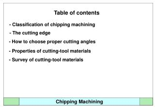 Chipping Machining