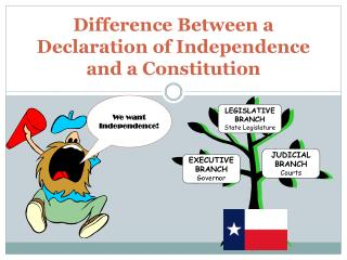 Difference Between a Declaration of Independence and a Constitution